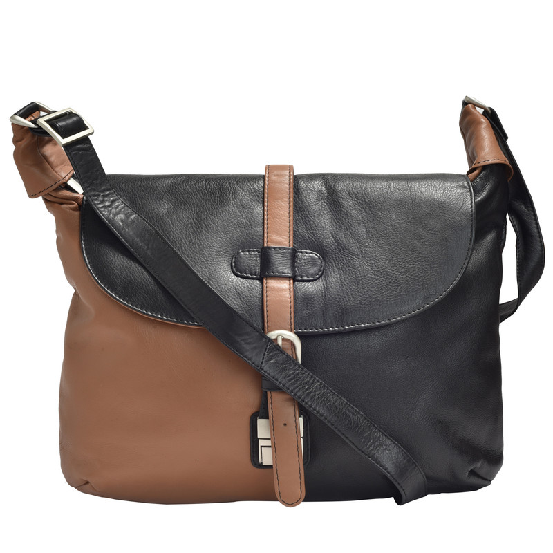 Tan & Black Handbag & Shoulder Bag